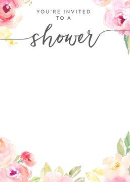 Printable Shower Invitation Template. Bridal Shower, Baby Shower Invitation