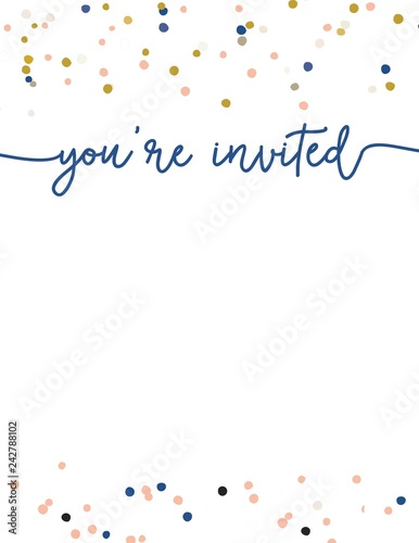 Cute Party Invitation Template Youre Invited Party Invitation