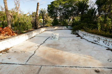 Photo Picture Image of an abandoned resort pool in Las Galletas Tenerife Canary Islands