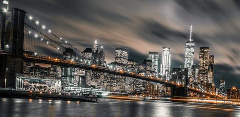 Fototapeta Brooklyn Bridge night long exposure obraz