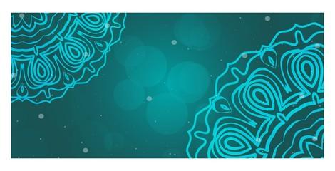 Decorative banner With Round Mandala Decoration. For Design, ad, web. Vector illustration