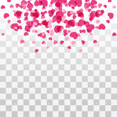 Hearts  background with transparent effect