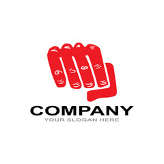 logo hand fighting