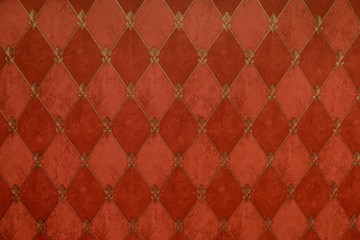 velvet square pattern in red colored