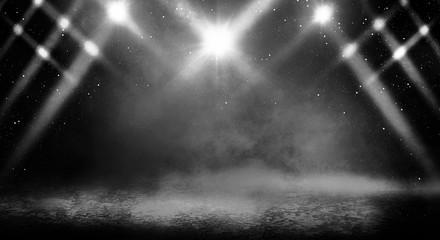 Background of an empty dark room
