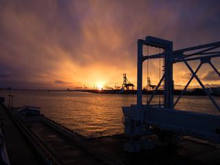 osaka port at dusk
