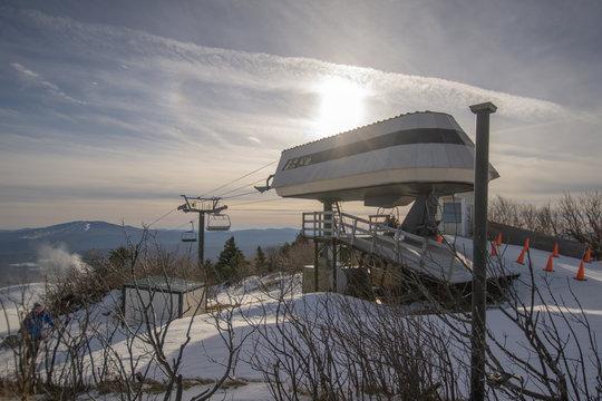 ski lift on a mountain