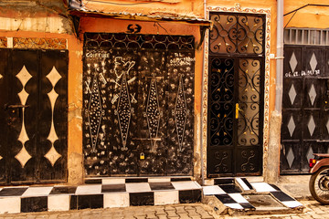 The old souk in Marrakesh, Morocco.