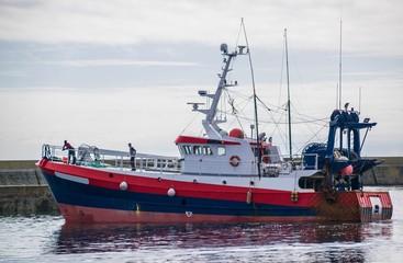 Guilvinec, retour de pêche, Finistère, France.