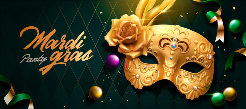 Mardi gras banner design