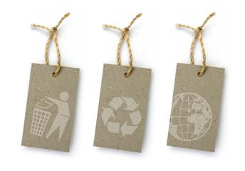 3 étiquettes recyclées
