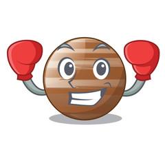 Boxing planet Jupiter in form of cartoon