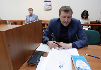 Russian ex-bobsledder Zubkov attends a court session to hear the appeal of the Russian Olympic Committee in Moscow
