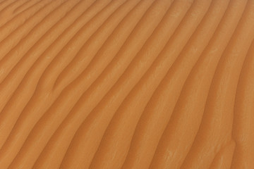 Sand Patterns in the setting sun of the United Arab Emirates