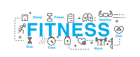 Fitness concept icons