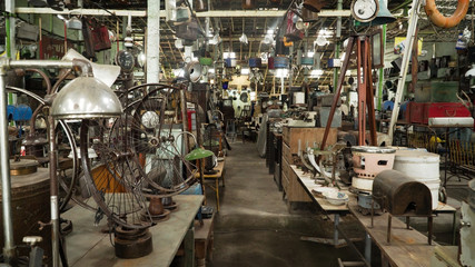 antique street shop with old, vintage items. antiques for sale. Bali Indonesia