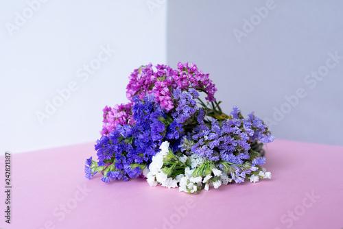 Multicolor sea lavender flowers bouquet