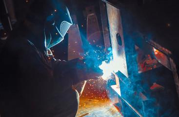 Welder weld metal structure