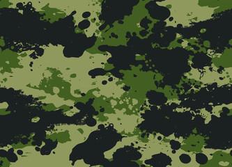 Seamless Splatter Camouflage Pattern
