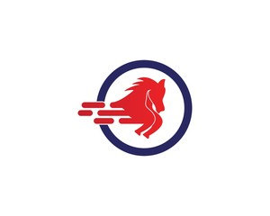 Horse faster logo design vector