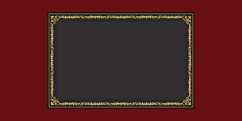 festlicher goldener Vektor Bilderrahmen für Jubiläum, Hochzeitstag oder Geburtstag Karte