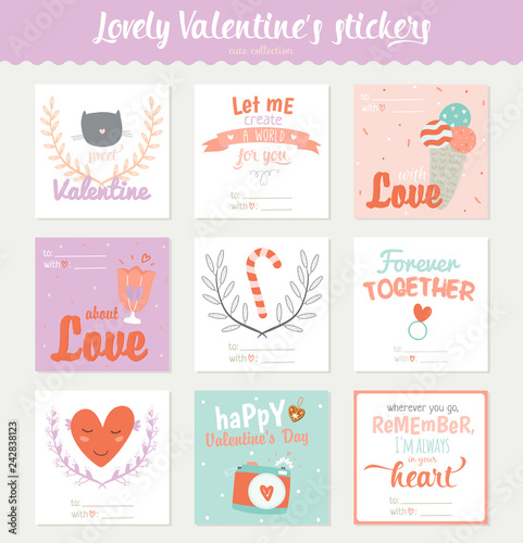 Gift Tags Stickers And Labels Templates Beauty Posters Set Lovely Card For Valentine S Day Wedding Marriage Save The Date Bridal