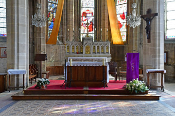 Magny en Vexin; France - april 3 2017 : Notre Dame church