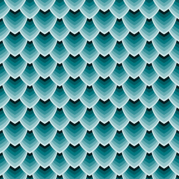 Seamless texture of dragon scales, reptile skin. Vector Illustration.
