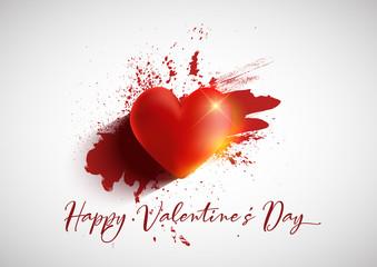 Grunge Valentine's Day background
