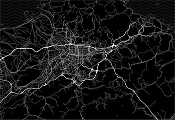Dark area map of Taipei, Taiwan