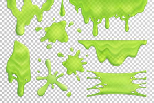 Slime Drips Realistic Set