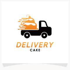Delivery Cake Logo Template Design Vector Inspiration. Icon Design
