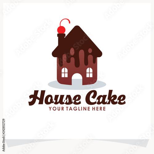 House Cake Logo Template Design Vector Inspiration Icon