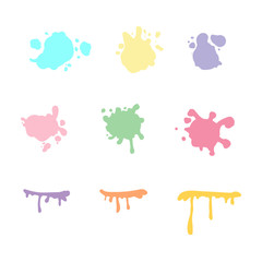 Vector abstract colorful splash set. Splashes collection.