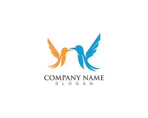Bird wing logo and symbol template vector