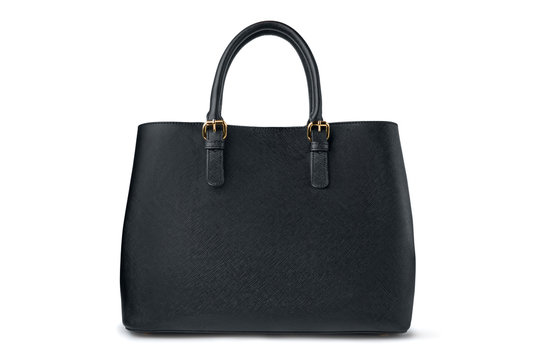 Black female bag on white background