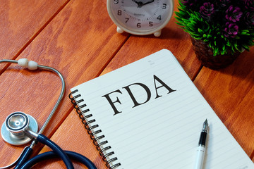 Notebook written with FDA (Food and Drug Administration)