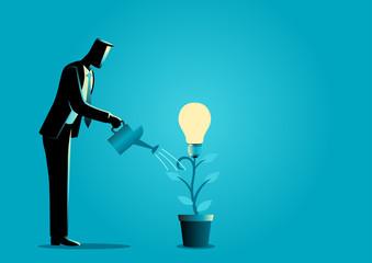 Creating ideas, business creative idea concept