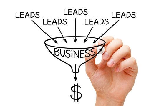 Lead Generation Business Sales Funnel Concept