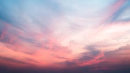 beautiful sunset in sunday morning. sky of heaven