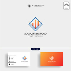 accounting, finance creative logo template vector isolated