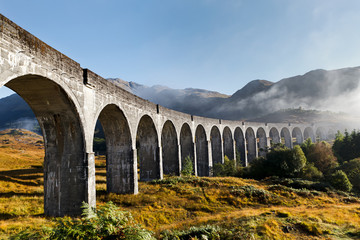 Glenfinnan Viaduct in West Scottish Highlands