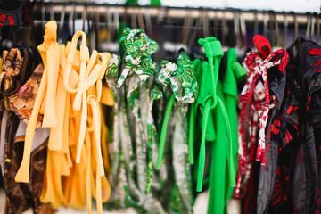 Bikini's on a rack