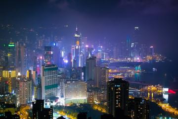 香港 寶馬山・紅香爐峰からの夜景