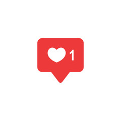 Like icon vector. Social media like vector icon. Notification Icon. Heart.