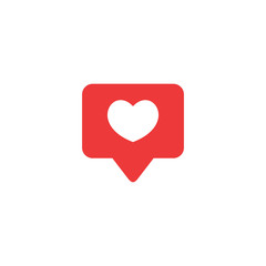Like icon vector. Social media like vector icon. Notification Icon. Heart.