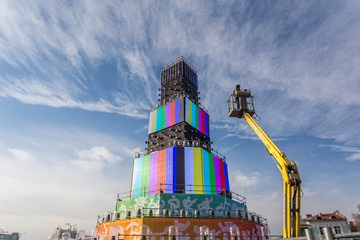 Building main stage and tower of Plovdiv 2019 European Capital of Culture.
