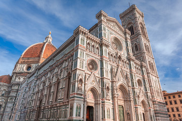The cathedral of Santa Maria del Fiore and Giotto's Campanile, Florence Italy