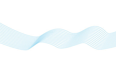 Wavy lines, wave stripe. Vector illustration. Stylized line art background.