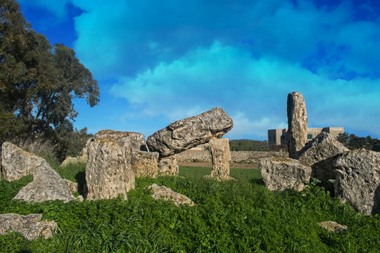 Ruins of a Megalithic Temple in Malta
